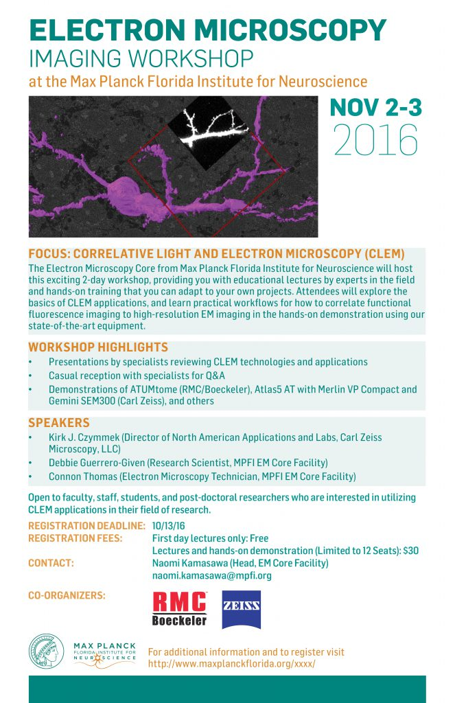 MPFI EM CLEM Workshop 2016 Flyer